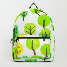 Doodled trees watercolor Backpack