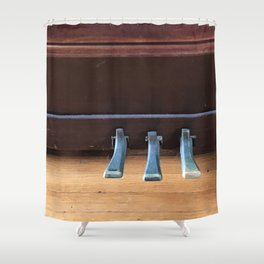 Piano Pedals on Antique Piano Shower Curtain