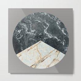 Water Meets Marble Metal Print