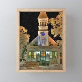 Immaculate Conception Church, Fairbanks Alaska Framed Mini Art Print