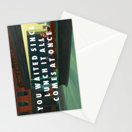White Nighthawks Stationery Cards