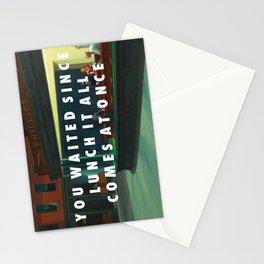 White Nighthawks Stationery Cards