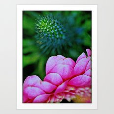 Seduction in a garden Art Print