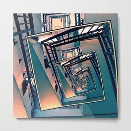 Infinite Spinning Stairs Metal Print