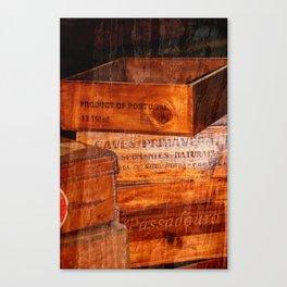 Wine crates Canvas Print