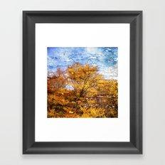 An autumn day Framed Art Print