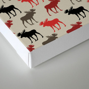 Bull Moose Pattern Canvas Print