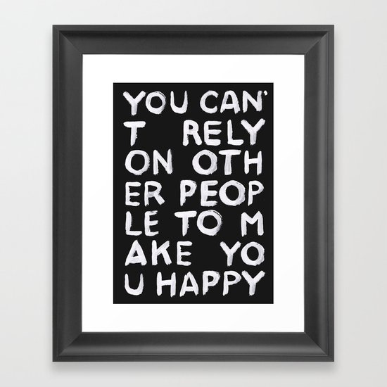 Rely Framed Art Print
