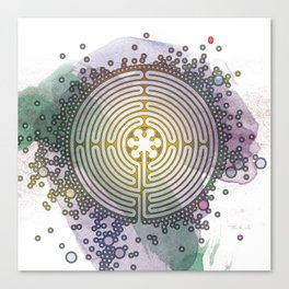 Meditative Labyrinth Canvas Print