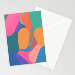 Thick Colorful Lines Stationery Cards