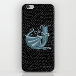 """Dragon Letter J, from """"Dracoserific"""", a font full of Dragons iPhone Skin"""