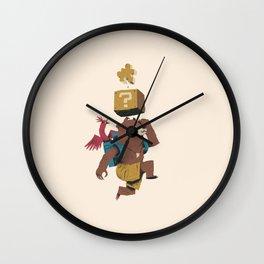 banjo block Wall Clock