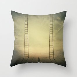 Different life opportunities Throw Pillow