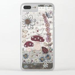 Mushroom Corner Clear iPhone Case