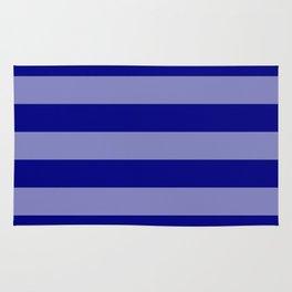 Wide Navy Blue Cabana Tent Stripes Rug