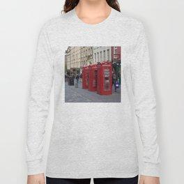 Telephone Booths Royal Mile Edinburgh Long Sleeve T-shirt