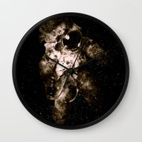 astronaut Wall Clocks featuring Astronaut by Andreas Lie