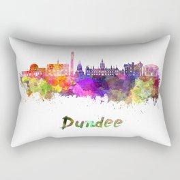 Dundee skyline in watercolor Rectangular Pillow