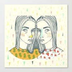 Last Sunset Twins Canvas Print