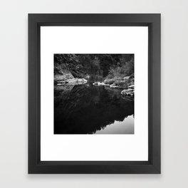 Shoreline Reflection On the Water Framed Art Print