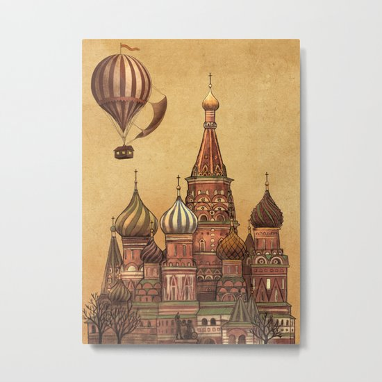 Trip to Moscow Metal Print