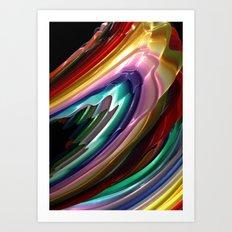 Flow Paint Art Print