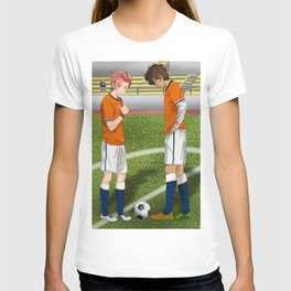 Connor and Mitchell soccer match T-shirt