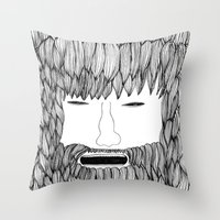 doodle Throw Pillows featuring Doodle by David