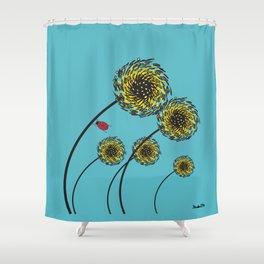 Lady Bug Fierce Shower Curtain