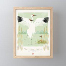 Whooping Crane Framed Mini Art Print