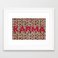 karma Framed Art Prints featuring kARMA by thecatalyst