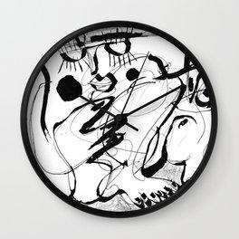 Female Nude #2 - b&w Wall Clock