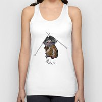 knitting Tank Tops featuring Knitting Love by Yerbabuena Design