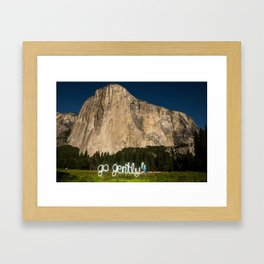 go gently Framed Art Print