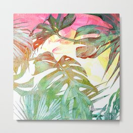 tropical and abstract tropical painting pattern Metal Print