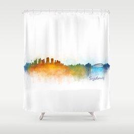 Sydney City Skyline Hq v3 Shower Curtain