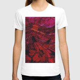Contemporary Scarlet Bloom Swirl T-shirt