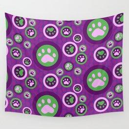 Purple Dog Lovers Pattern Wall Tapestry