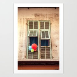 Nice France window 6133 Art Print
