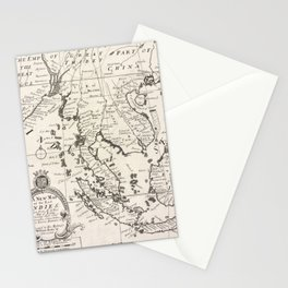 Vintage Map of Indonesia (1700) Stationery Cards