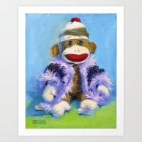Mona the Sock Monkey Art Print