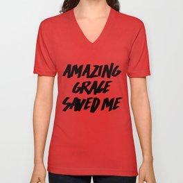 Amazing Grace Unisex V-Neck
