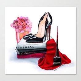 Black shoes Canvas Print