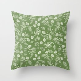 Pine Branches Throw Pillow