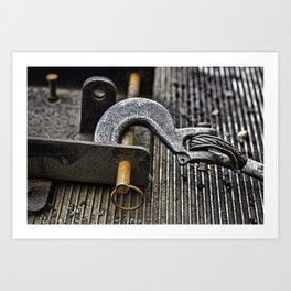 Rusty Metal Background Art Print
