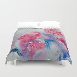 Roses in watercolor Duvet Cover