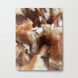 Waffles with Almonds Metal Print