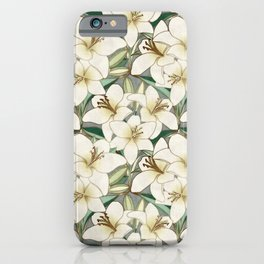 Gilding the Lilies - neutral forest shades iPhone Case