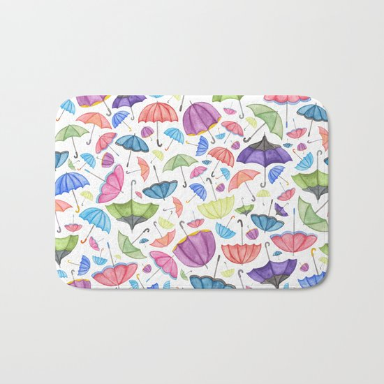 Umbrella Print.  Bath Mat