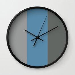BEACH THEME TRIPLE THICK STRIPES - DARK GREY - BLUE GREY - LIGHT GREY  Wall Clock